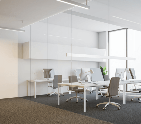 A modern and open office space