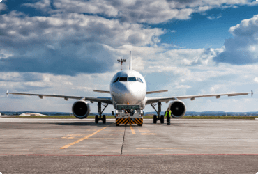 An airplane safely loaded with dangerous goods