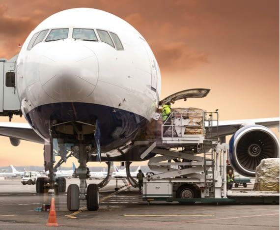 cargo plane transporting dangerous goods
